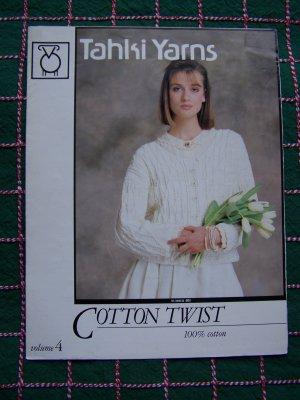 3 Tahki Yarns Knitting Patterns Womens Lattice Cardigan Eyelet Halter Seed Stitch T # 4