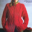 Misses Knitting Pattern Reynolds Andean Alpaca Regal All OVer Cable Cardigan Sweater