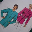 Vintage 80's Misses Jacket Sewing Pattern 1534 Fitted Blazer Sz 6 8 10 12