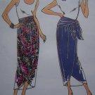 1980's Retro Pull on Wrap Skirt Shaped Hem Sewing Pattern 1952 Sz XS S M L