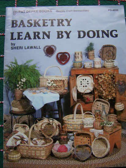 Basket Weaving Books Free : Vintage basketry learn by doing basket weaving