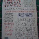 1 Cent USA S&H Mini Backstitch Alphabets 20 Cross Stitch Patterns Leaflet # 407