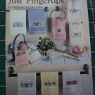 1 Cent USA S&H 10 Just Fingertips Cross Stitch Towels Patterns Leaflet 485
