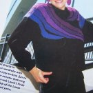 1991 Brown Sheep Company Knitting Pattern Womens Pullover Bright Waves Sweater 1-901