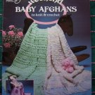 9 Vintage 80's Baby Afghan Patterns Knitting Crochet Book 1051 Infant Blankets