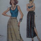 Vintage 80's Scoop Tank Top & Skirts Button Left or Open Slit Beach Skirt Sewing Pattern 1092
