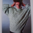 Womens Knitting Pattern Vintage Bulky Pullover Patterned Sweater 1307