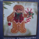 New Mill Hill Glass Bead Kit Winter Holiday Gingerbread Boy