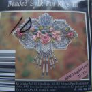 1 Cent S&H USA 1996 Mill Hill Beaded Sylk Pin Kit III Sapphire Lattice