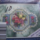 1994 Mill Hill Kit Victorian Floral Beaded Sylk Ribbon Pin Kit New
