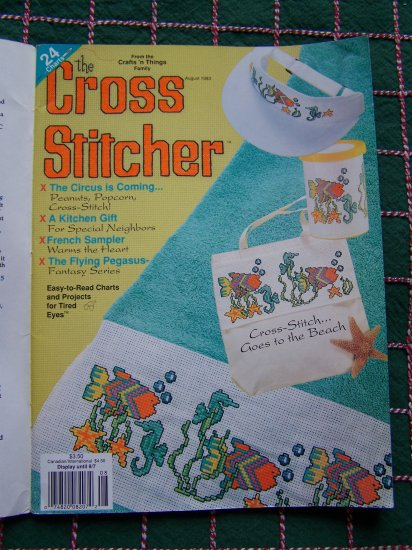 The Cross Stitcher Back Issue Pattern Magazine August 1993 Cross Stitch Patterns
