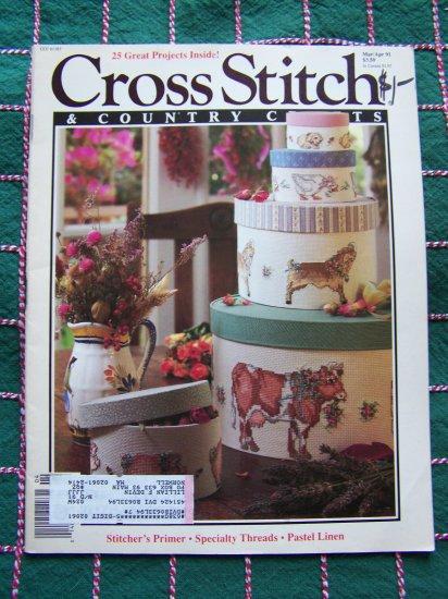USA 1 Cent S&H Cross Stitch Patterns Charts Graphs March April 1991