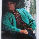 Mens Filatura Di Crosa Italian KNitting Pattern Textured Cardigan Sweater 1314
