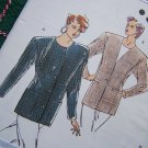 Sewing Pattern Misses Princess Jacket Blazer Lined or Unlined 1814 Sz 6 8 10 12 Uncut