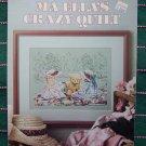 Vintage Ma Ellas Crazy Quilt Embroidery Pattern Tea Party 709