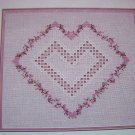 USA 1 Cent Ship Hardanger Pattern With Love Heart Leaflet 71 Cross N Patch