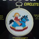Vintage Rocking Horse Counted Cross Stitch Complete Craft Kit Circlets Frame 310