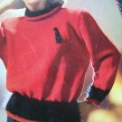1980's Womens Elegant Sweaters Knitting Patterns Brunswick 860