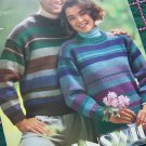 7 Vintage Knitting Patterns Brunswick Yarn Knit Sweaters for Men & Misses