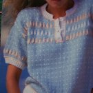 2 Womens KNitting Patterns Sleeveless & Short Sleeve Tops Bernat Book 617
