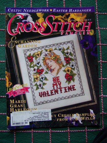 1 Cent USA S&H Cross Stitch Sampler Patterns Magazine Feb 1995