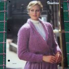 Vintage Bernat Book 518 Two Misses Knitting Patterns Shawl Collar Jacket & Pullover Sweater