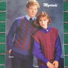 4 Retro Mens & Misses Bernat Knitting Pattern Book 558