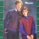 4 Retro Mens & Misses Bernat Knitting Pattern Book 558
