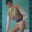 1 C USA S&H  2 Retro Womens Vest & Pullover Sweaters Knitting Patterns 1318