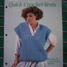 1Cent Shipping 3 Retro Quick Crochet Vests Patterns Womens 417 Cardigan Bulky Stitch V