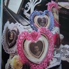55 Patterns Victorian Hearts & Flowers To Craft Crochet Quilt Cross Stitch 1994
