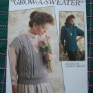 6 Retro Knitting Patterns Misses Vest SS Pullover Polo Top LS Sweater Jerkin 566