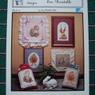 5 Retro Bunnies Cross Stitch Patterns Hollie Designs Book 25 1 Cent USA S&H