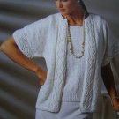 Vintage KNitting Patterns Womens Summer Jacket Tank Top V Neck Shirt Long Sleeve Sweater 787a