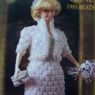 Paradise Crochet Pattern Barbie Beaded Evening Suit Dress Purse Shoes Tiara Coat # 49