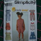 Toddler Sewing Pattern 8114 SUmer Wardrobe Jumpsuit Sun Romper Jumper Dress 1/2 1 2