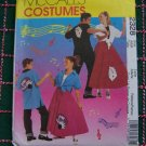 Kid's 1950's Halloween Costume Dress Up Plays Circle Skirt & Appliques Sewing Pattern 2328