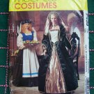 McCalls Sewing Pattern P439 Renaissance Costume Dress Veil Headpiece Gown 14 16 18