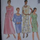 Misses 8 10 12 Sewing Pattern Unlined Jacket Pull on A Line or Slim SKirt Scarf 2120