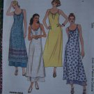 Long Summer Beach Dress Spaghetti Straps Sundress Slipdress Sew Pattern 8 10 12