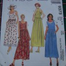 McCall's Sewing Pattern 9373 Misses Empire Waist Sundress Summer Dress Sz 8 10