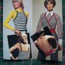 1970's Vintage Hippie Halter & Tank Tops Knitting and Crochet Patterns S M L
