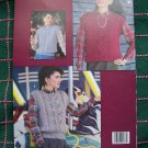 Vintage Misses Knitting Patterns Quick to Knit Lace Panel Vests Bust 36 - 44