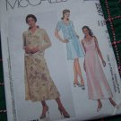 Bias Dress Sleeveless Sundress Cowl Drape Front Knit Fabric Jacket 8 10 12 McCall's 2267