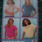 Vintage Knitting Patterns Pullover Summer Tops Eyelet Cable Daisy Panel Shell Stitch Bowknot