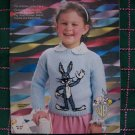 Vintage Toddlers 1 2 3 4 Knitting Patterns Looney Tunes Sweaters Boys Girls