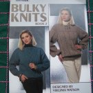 1 Cent USA Ship Vintage Knitting Pattern Misses S M L Pullover Sweaters Bulky Knits Raglan Aran