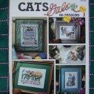 66 Cat Cross Stitch Patterns Charts Graphs Kittens Kitty Cats Galore Leisure Arts Book 2821