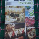 Simplicity 8434 Home Decorating Sewing PAtterns Mantel Scarves Table Runners & Accessories
