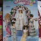 Crochet Patterns Barbie Fashion Doll Pretty Ladies 5 Gowns Wedding Dress